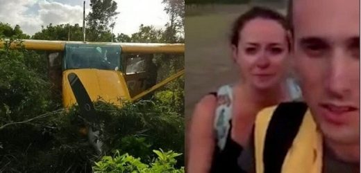 COUPLE MIRACULOUSLY SURVIVE PLANE CRASH WHILE ON THEIR HONEYMOON
