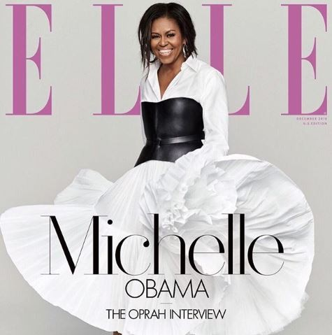 OPRAH WINFREY INTERVIEWS MICHELLE OBAMA AS SHE COVERS THE DECEMBER EDITION OF ELLE MAGAZINE