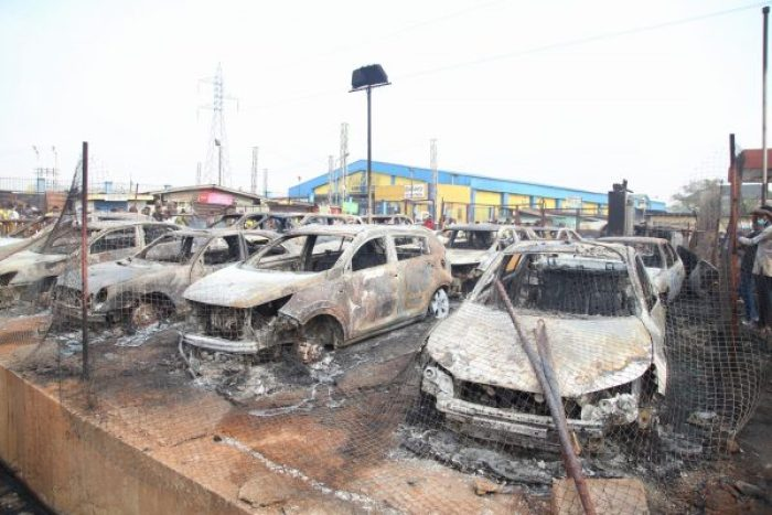 38 VEHICLES, 71 SHOPS, HOUSES, PETROL STATIONS RAZED IN ABULE EGBA PIPELINE FIRE