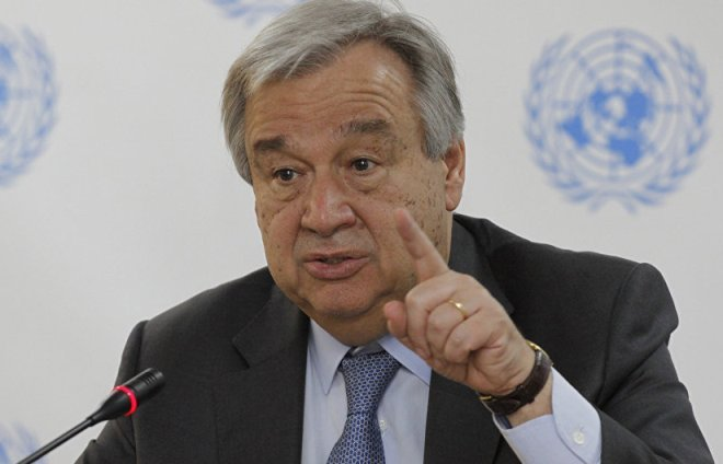 WORLD CRISES: WE MUST RESOLVE TO CONFRONT THREATS AND DEFEND HUMAN DIGNITY -UN CHIEF