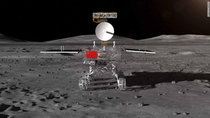 HISTORY AS CHINA LUNAR ROVER SUCCESSFULLY TOUCHES DOWN ON FAR SIDE OF THE MOON