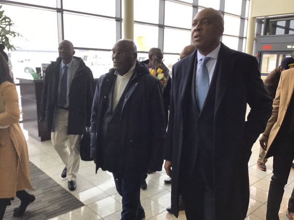 ATIKU LANDS IN WASHINGTON DC