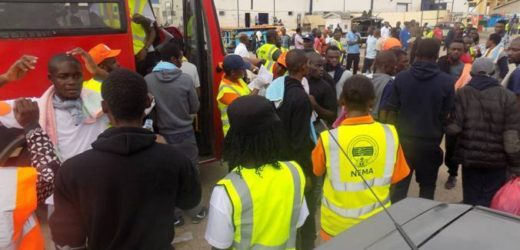 164 NIGERIANS RETURN FROM LIBYA, 2 SUSPECTED TRAFFICKERS NABBED