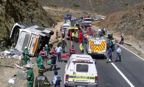 ACCIDENT CLAIMS 24 LIVES IN SOUTH AFRICA