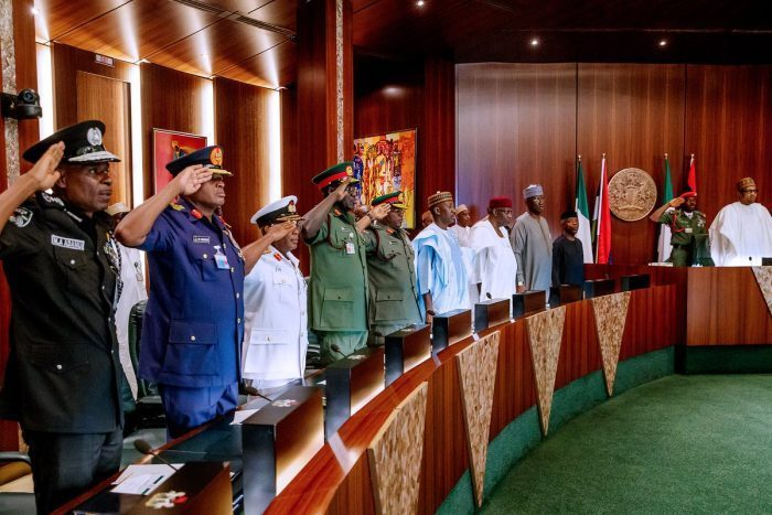 Photo News: Buhari holds expanded security meeting