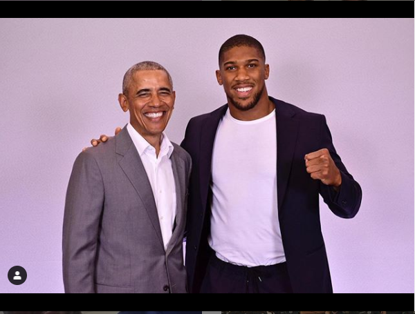 ANTHONY JOSHUA MEETS FORMER US PRESIDENT BARRACK OBAMA (PHOTO)