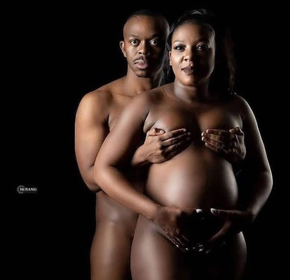 COUPLE CAUSE A STIR ONLINE WITH THEIR NUDE PREGNANCY SHOOT
