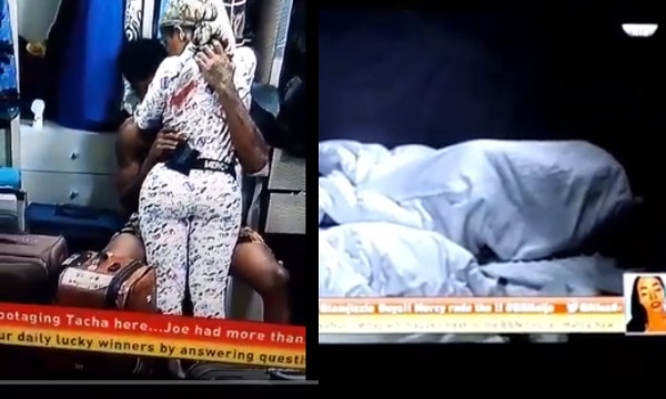 BBNAIJA: IKE SUCKS MERCY'S BOOBS, FINALLY HAS SEX WITH HER