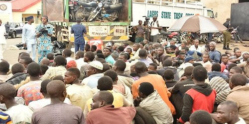 LAGOS GOVERNMENT INTERCEPTS TRUCK LOADED WITH 123 PERSONS AND 48 MOTORCYCLES FROM JIGAWA