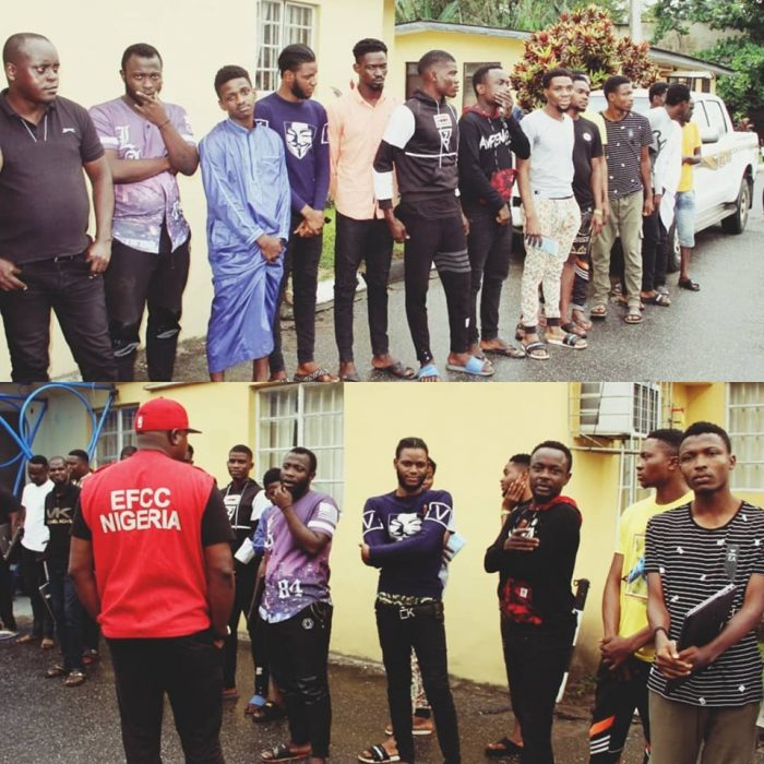 EFCC RELEASES LIST OF 18 INTERNET SCAMMERS BUSTED IN LAGOS