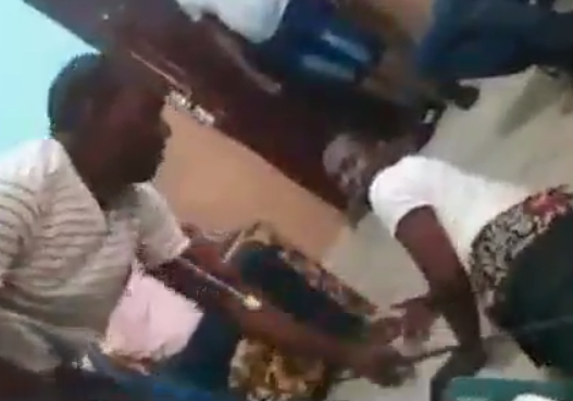 VIDEO: POLICE OFFICERS FLOG RIVERS STATE UNIVERSITY STUDENT FOR FAKING KIDNAP JUST TO EXTORT MONEY FROM HIS FATHER