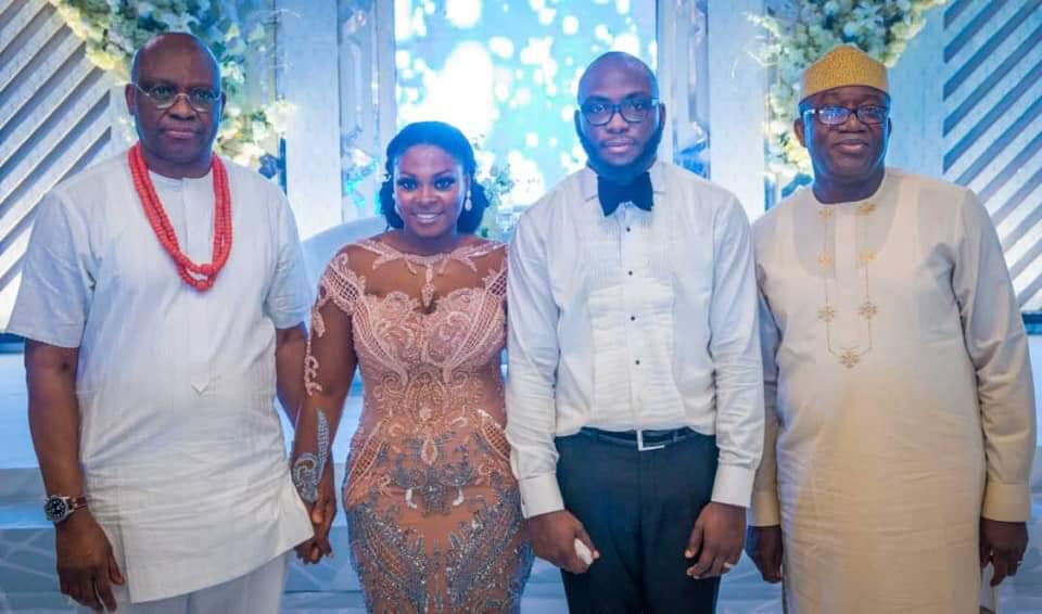 PHOTOS: ALL SMILES AS FAYEMI ATTENDS WEDDING OF FAYOSE'S SON