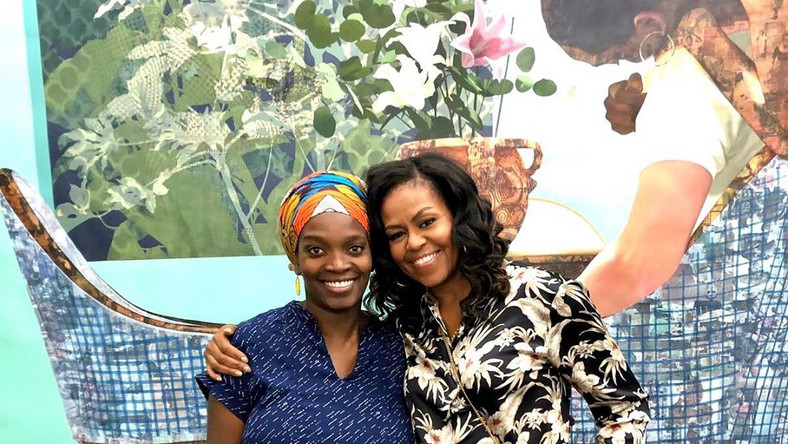 HEARTWARMING MOMENTS AS MICHELLE OBAMA VISITS NIGERIAN-BORN ARTIST, NJIDEKA AKUNYILI CROSBY