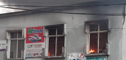 SURULERE SUPER PLAZA GUTTED BY FIRE IN LAGOS