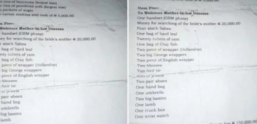 MAN BREAKS UP WITH GIRLFRIEND AS HER FAMILY UNLEASHES SCARY BRIDE PRICE LIST ON HIM