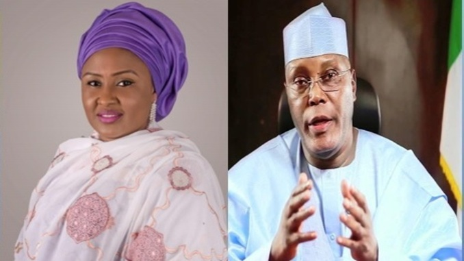 AISHA BUHARI SENDS MESSAGE TO ATIKU