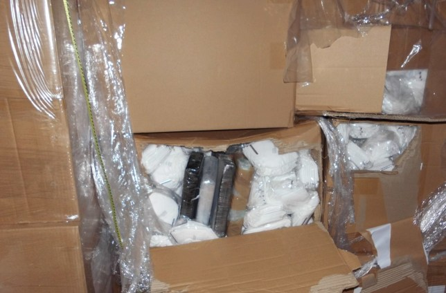DRUG TRAFFICKERS HIDE N483M COCAINE IN CARGO OF FACE MASKS