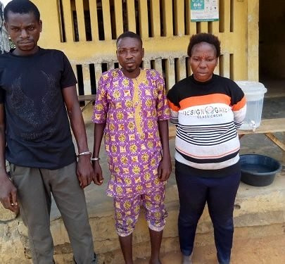 COUPLE ARRESTED FOR USING THEIR SON FOR RITUAL