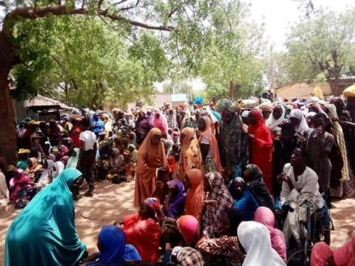 KATSINA: OVER 600 PERSONS DISPLACED BY BANDITS LIVING ON FOOTBALL FIELD