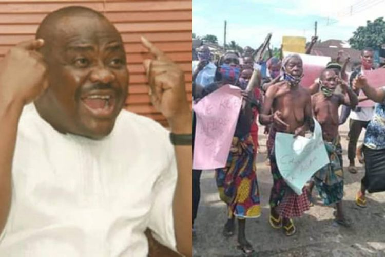 WIKE IN TROUBLE: NAKED WOMEN PROTEST ISOLATION OF PRODEST HOTEL MANAGER