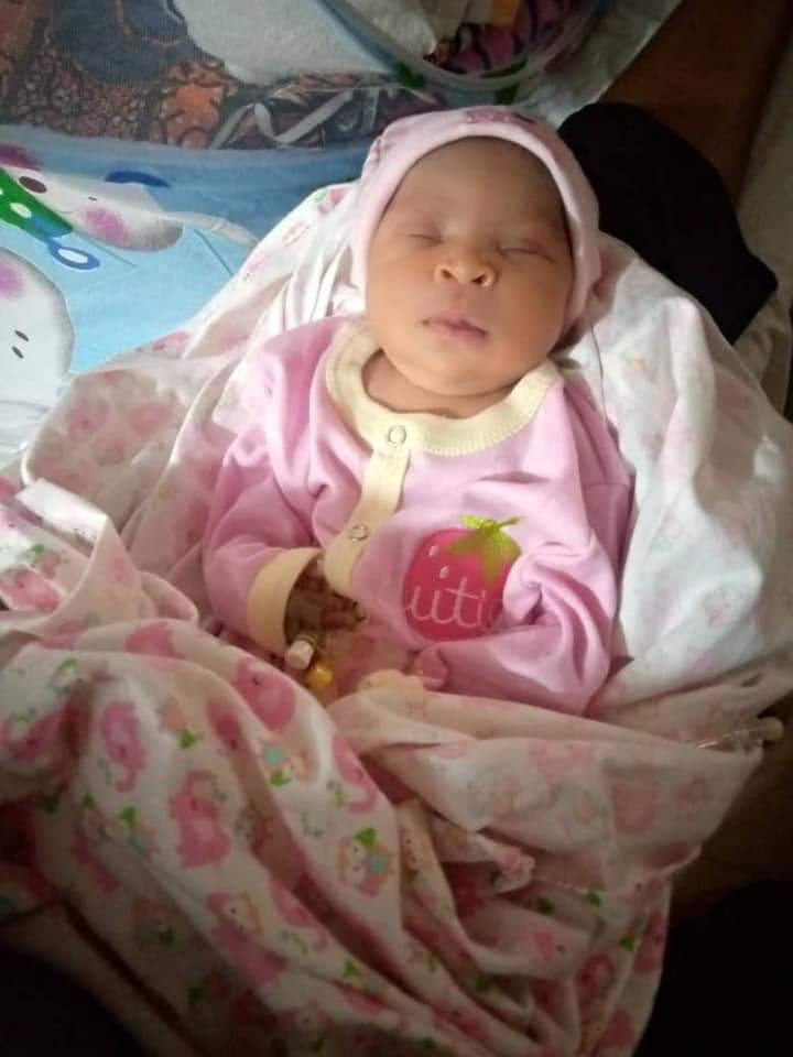 NIGERIAN LADY WELCOMES A BABY GIRL AFTER 22 YEARS OF MARRIAGE