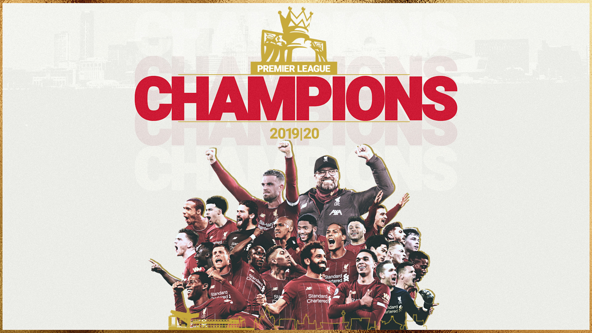 LIVERPOOL ARE CHAMPIONS OF THE ENGLISH PREMIER LEAGUE
