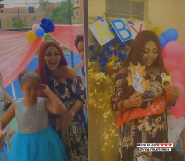 PHOTOS AND VIDEOS FROM REGINA DANIELS' SURPRISE BABY SHOWER