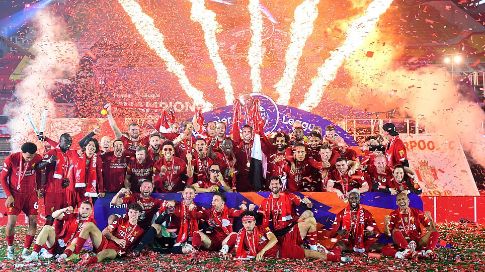 LIVERPOOL LIFTS PREMIER LEAGUE TROPHY AFTER THRASHING CHELSEA 5 – 3 AT ANFIELD (PHOTOS)