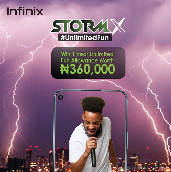 Description: Win #360,000 in entertainment allowance for a whole year ? Join the Infinix Storm X campaign or buy the latest Infinix device