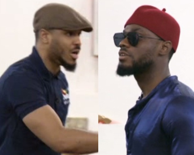 """#BBNAIJA: """"SHUT UP YOUR MOUTH:"""" OZO CLASHES WITH PRINCE DURING THEIR DRAMA PRACTICE (VIDEO)"""