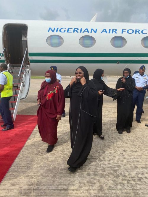 AISHA BUHARI ESCAPES NEAR PLANE MISHAP