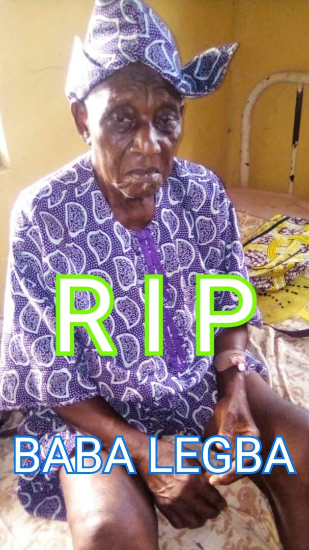 VETERAN ACTOR, YEKINI OYEDELE 'BABA LEGBA' IS DEAD