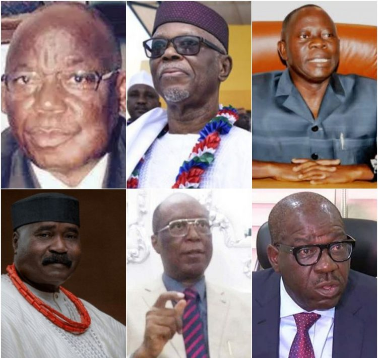 GOVERNORSHIP COUNTDOWN: MEET PAST GOVERNORS OF EDO STATE