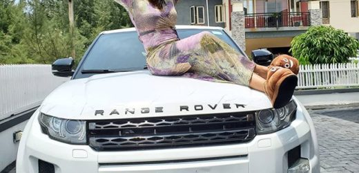 NOLLYWOOD ACTRESS IYABO OJO IN TEARS AFTER GETTING RANGE ROVER GIFT ..PHOTOS
