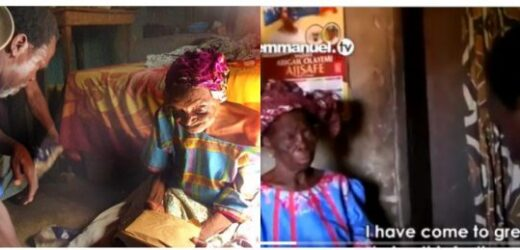 TB JOSHUA VISITS 142-YEAR-OLD WOMAN, GIVES HER N300,000