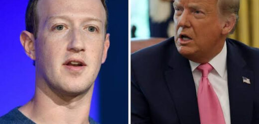 MARK ZUCKERBERG ANNOUNCES THAT DONALD TRUMP HAS BEEN BANNED FROM FACEBOOK AND INSTAGRAM INDEFINITELY