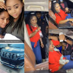 REGINA DANIELS MUM, RITA SHEDS TEARS OF JOY AS SHE RECEIVES PRADO SUV AS BIRTHDAY PRESENT FROM HER DAUGHTER