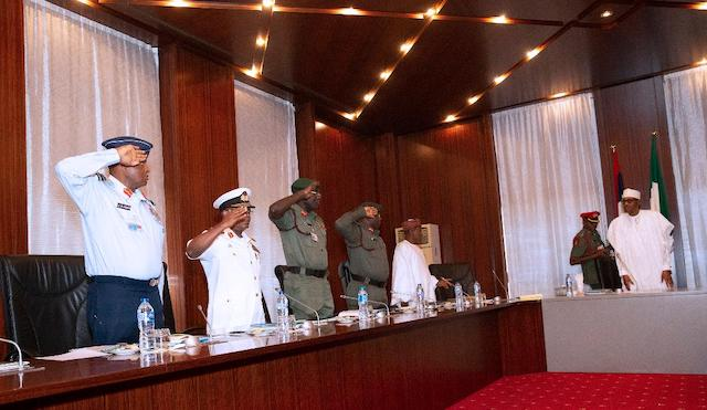 Buhari announces plans to rejig police, armed forces