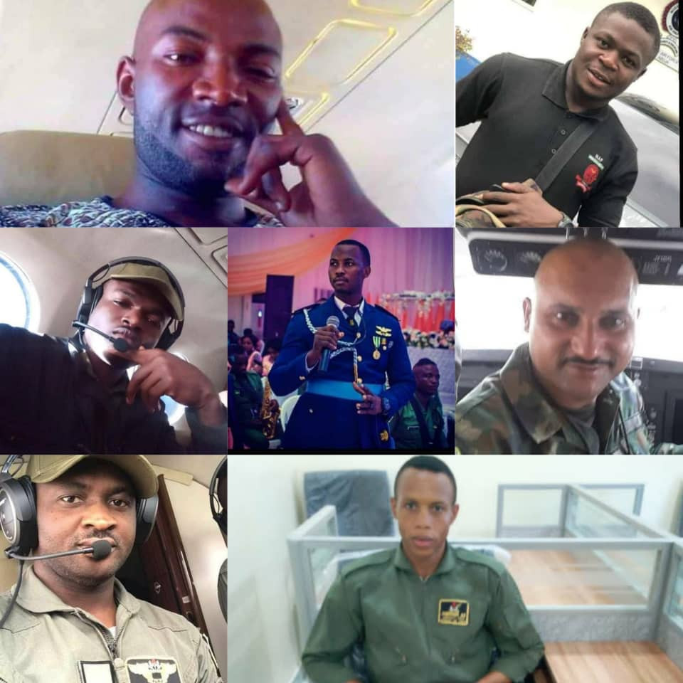 NIGERIAN AIR FORCE RELEASES NAMES OF VICTIMS OF MILITARY PLANE CRASH. PHOTOS