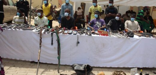 48 DEADLY ROBBERS, KIDNAPPERS ARRESTED, 14 AK-47 RIFLES RECOVERED