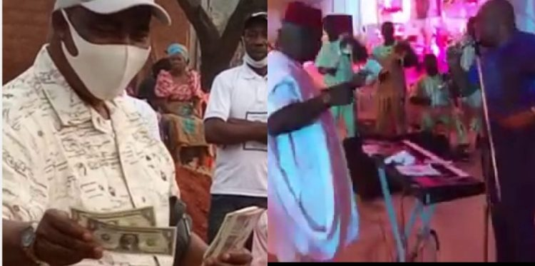 VIDEOS: HOW MURDERED US-BASED NIGERIAN, ABUDA SPRAYED DOLLARS ON MUSICIAN
