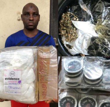 NDLEA intercepts cocaine and heroine concealed in earrings and cream containers at different courier companies in Lagos (photos)