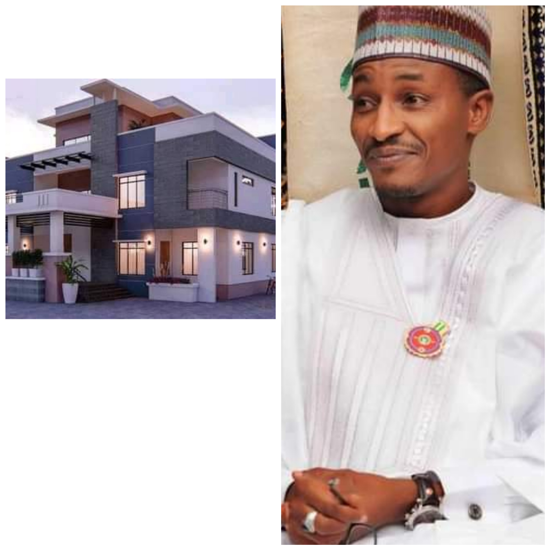 PRESIDENT BUHARI'S NEPHEW SHOWS OFF HIS NEWLY COMPLETED ABUJA MANSION