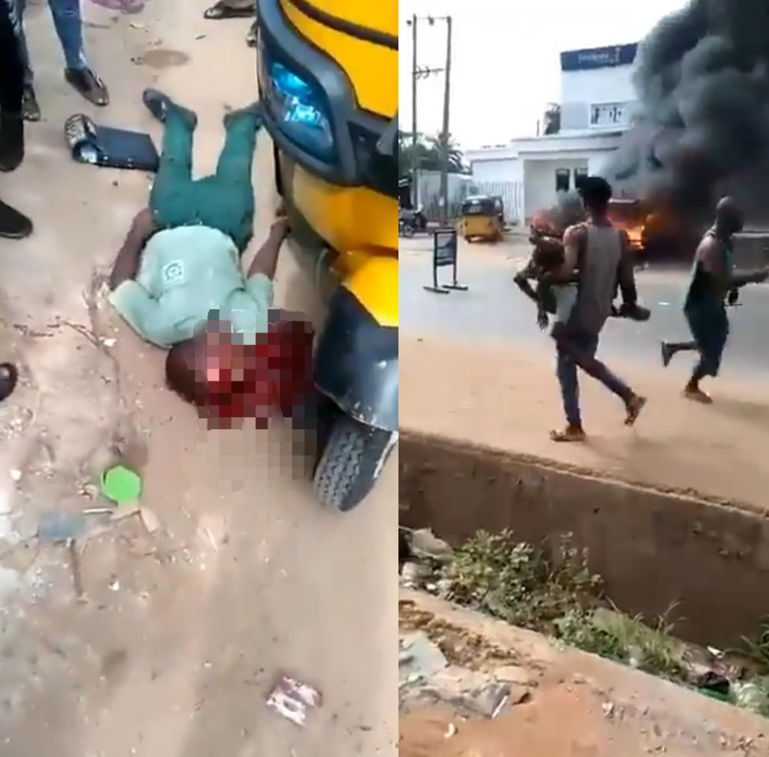 TWO STUDENTS SHOT DEAD DURING ATTACK ON A BANK IN ANAMBRA (PHOTOS)