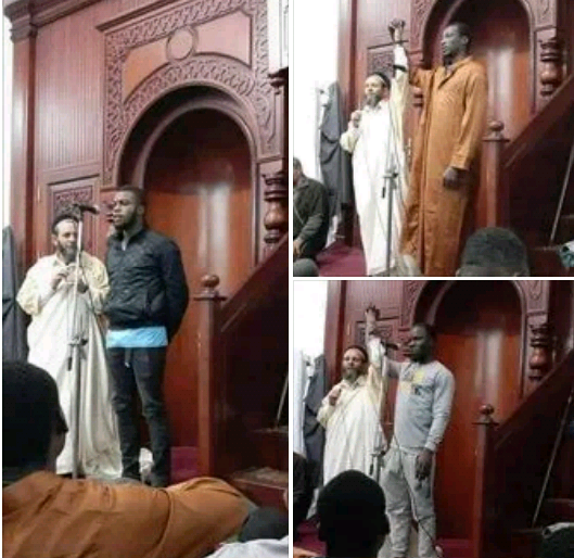 """""""IT'S THEIR FUNDAMENTAL HUMAN RIGHT"""" – MIXED REACTIONS AS THREE MORE NIGERIAN MEN CONVERT TO ISLAM IN LIBYA.PHOTOS"""