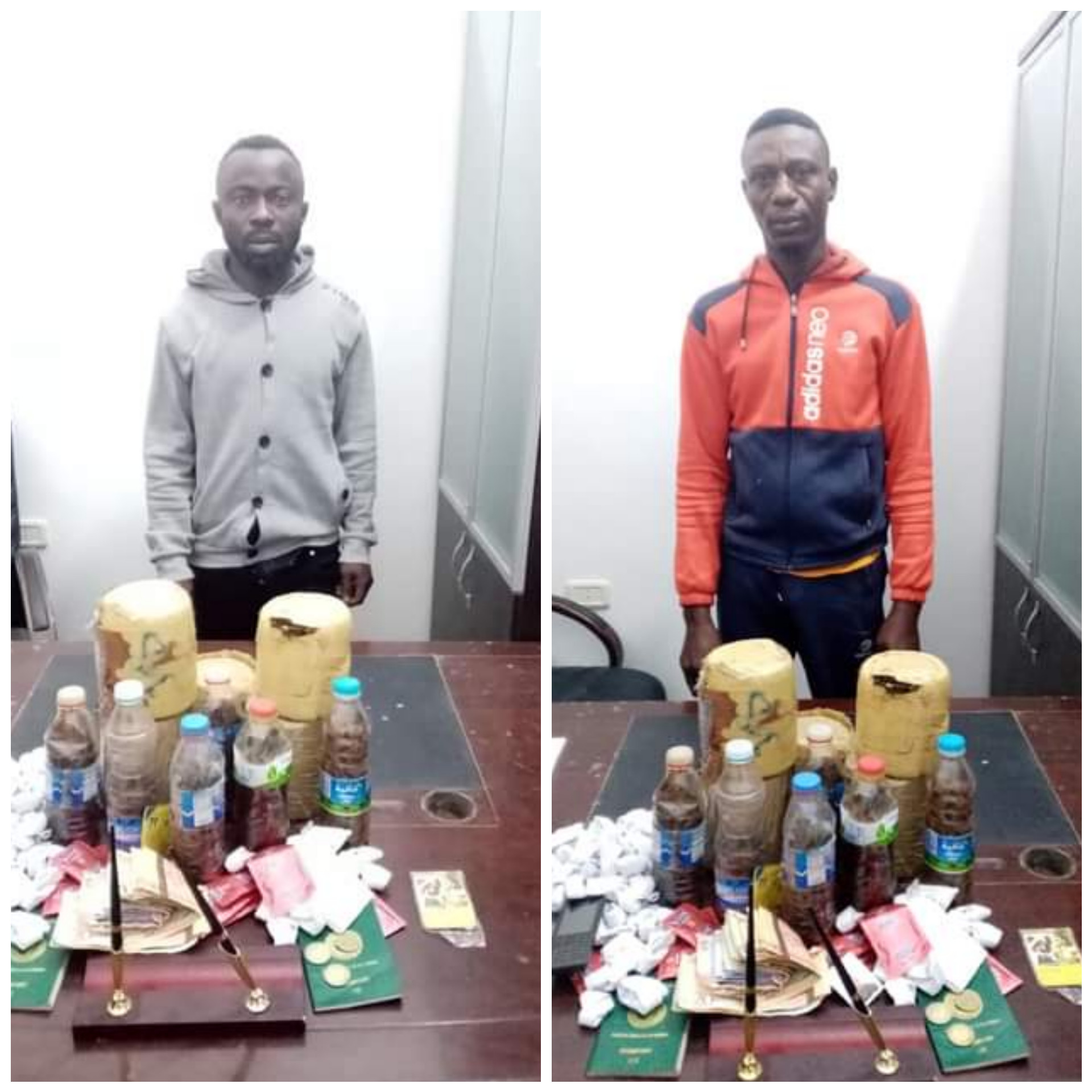 TWO NIGERIAN NATIONALS ARRESTED IN LIBYA FOR DRUG AND SEX TRAFFICKING.PHOTOS