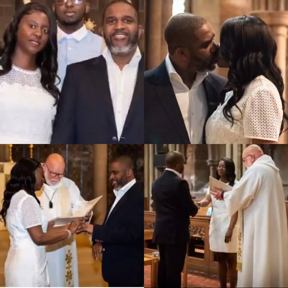 NIGERIAN COUPLE REMARRY AFTER 10 YEARS OF SEPARATION AND DIVORCE. PHOTOS