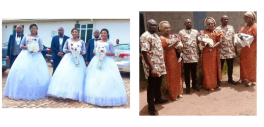 TRIPLETS WHO MARRIED THEIR WIVES SAME DAY IN ENUGU WELCOME BABY BOYS WITHIN SAME PERIOD . PHOTOS