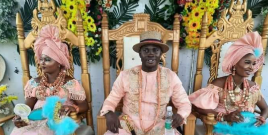 UPDATE..PHOTOS FROM THE WEDDING OF THE DELTA-STATE BORN MAN TO TWO WOMEN ON THE SAME DAY (PHOTOS)