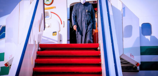 PRESIDENT BUHARI RETURNS TO NIGERIA AFTER MEDICAL CHECKUP IN LONDON (PHOTOS)